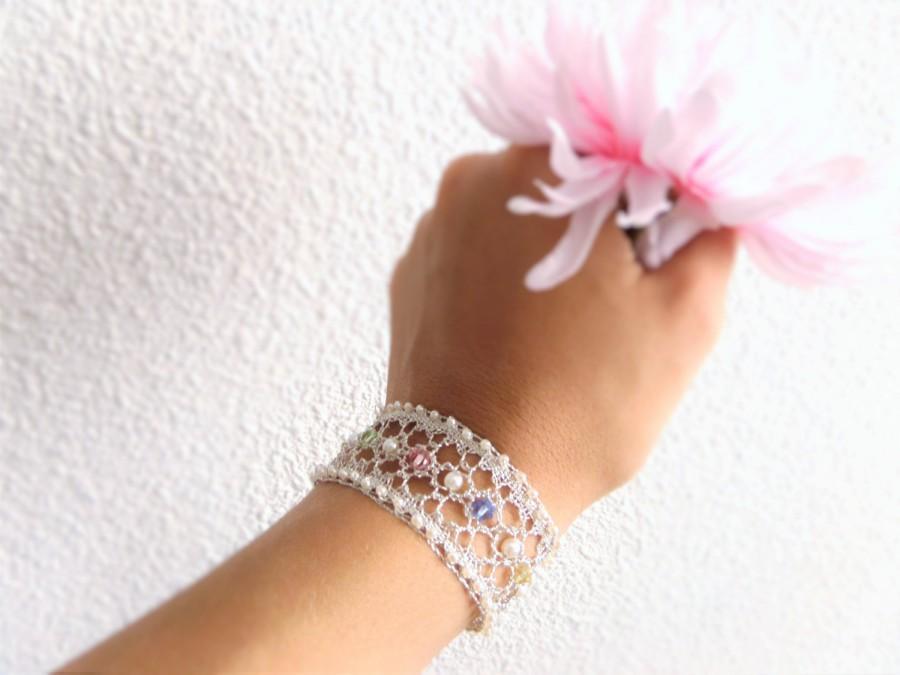 Hochzeit - Silver Bride's Bracelet Wedding Jewelry for Brides Wedding Bracelet Pearl Bridal Jewelry Silver Bridesmaids Bracelet for Mother of the Bride