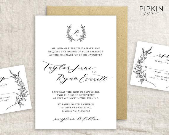 Wedding - Printable Wedding Invitation