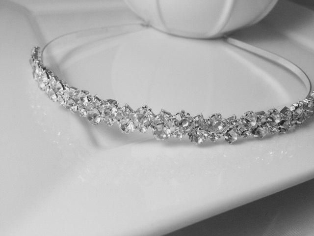 Свадьба - Genuine Crystal Rhinestone Silver Plated 'Emily' Wedding Bridal Headband for Bride, Bridesmaids or Prom