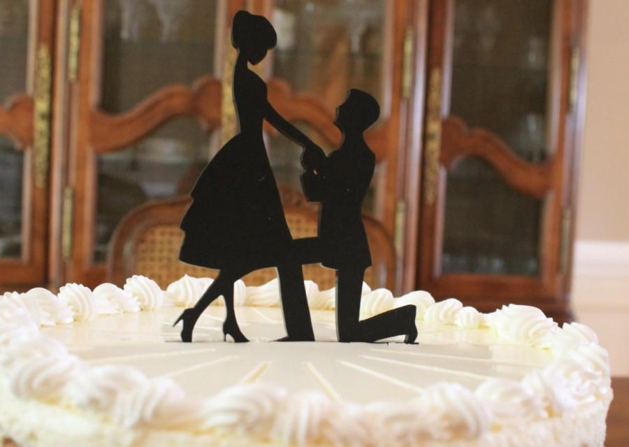 Mariage - Engagement Cake Topper - Ashley