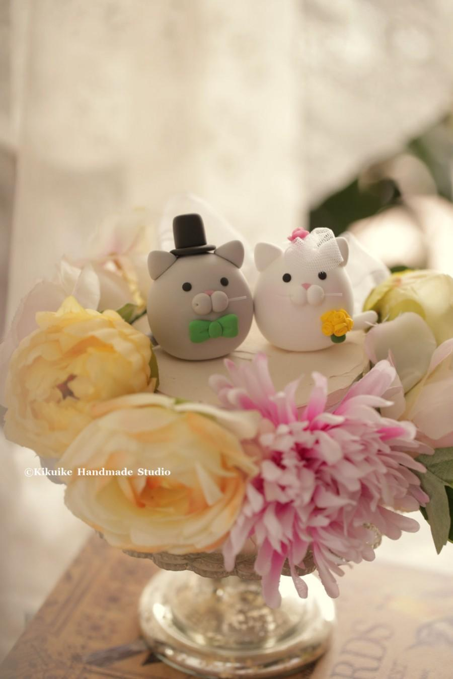 Hochzeit - kitty and Cat wedding cake topper