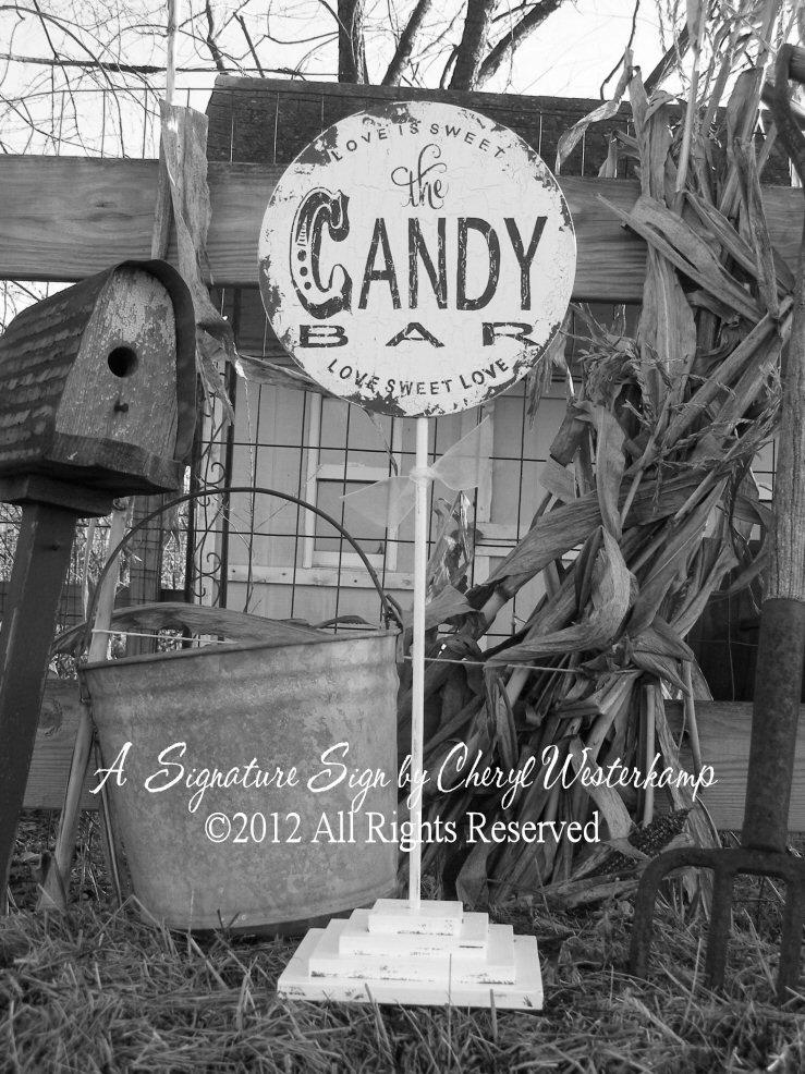 Mariage - CANDY BAR SIGN