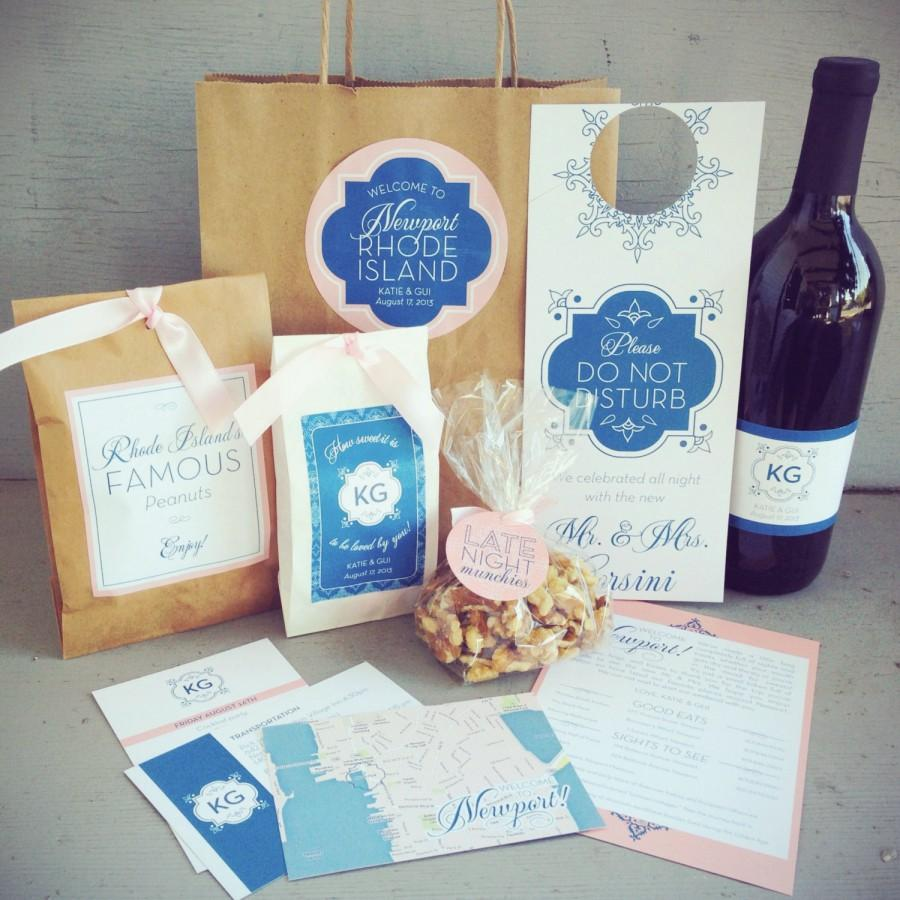 Wedding guest welcome bag with paper bag accessories 10 design options custom colors - Inviting door color ideas for welcoming the guests in sweeter way ...