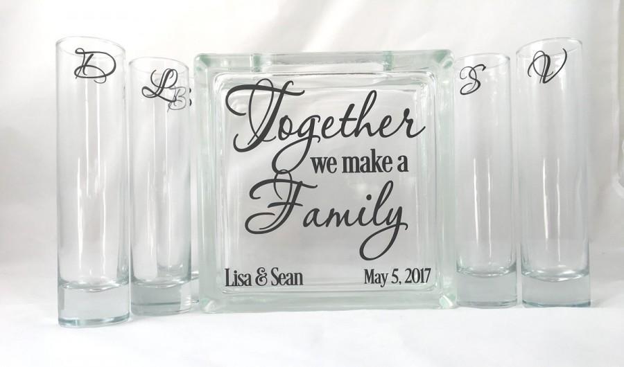 Together We Make A Family Unity Sand Ceremony Set Blended