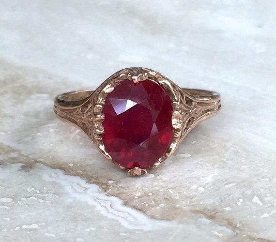 Mariage - 15% off code,Gifts For Her,14K 3 ct Red Ruby,Ruby Ring,Engagement Ring,Ruby Engagement Ring,Christmas For Her