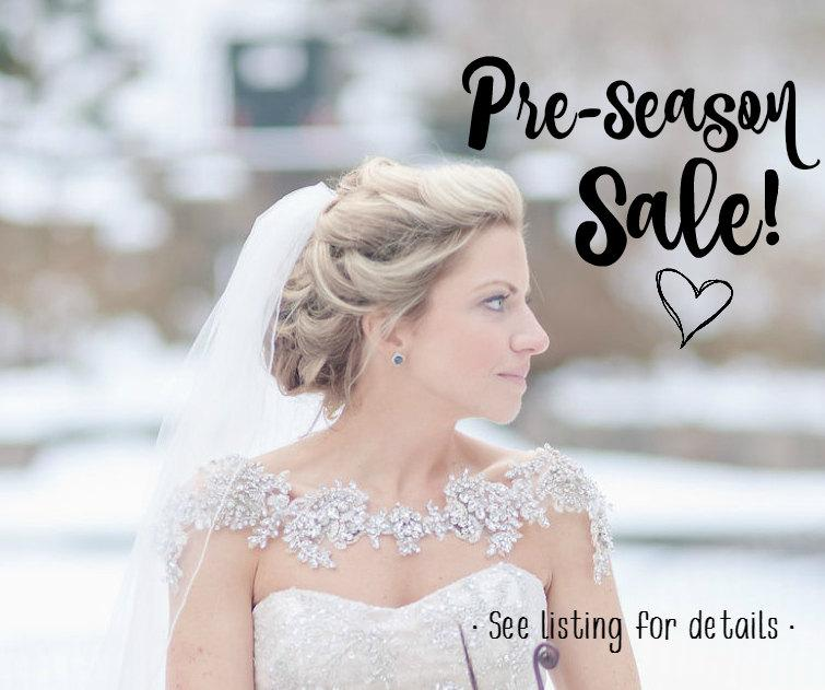 Hochzeit - Crystal Bridal Bolero, Bridal Shoulder Necklace, Bridal Statement Jewelry, Style Grace
