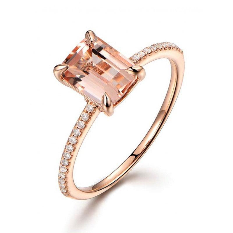 Rose Gold And Pink Diamond Ring Etsy