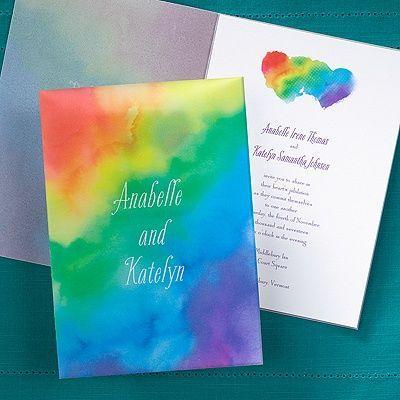 Mariage - Rainbow Wrap Invitation