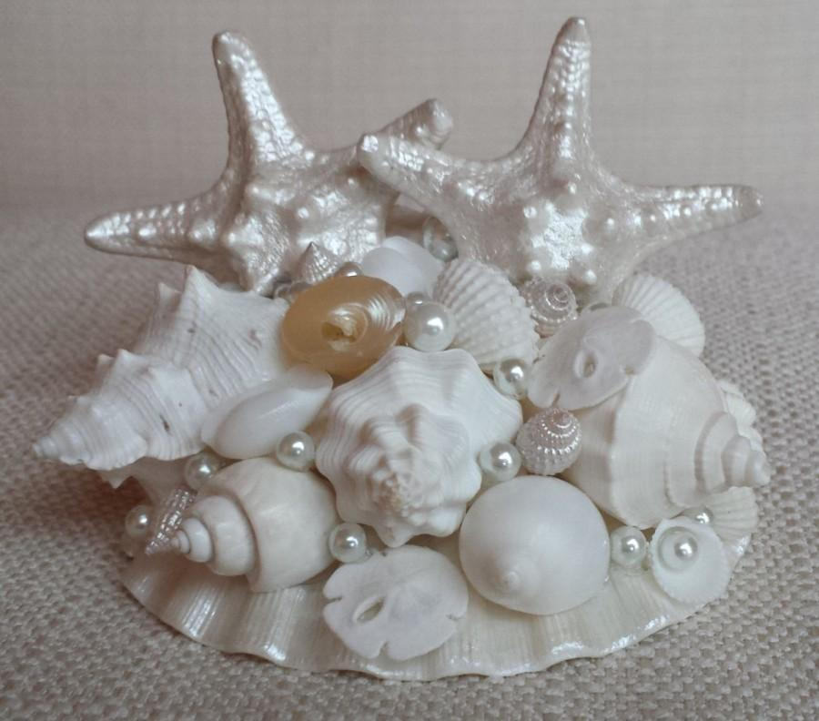 Свадьба - Beach Wedding Cake Topper, Starfish Cake Topper, Seashell Cake Topper, Shell Cake Topper, Beach Wedding Decor, Beach Decor