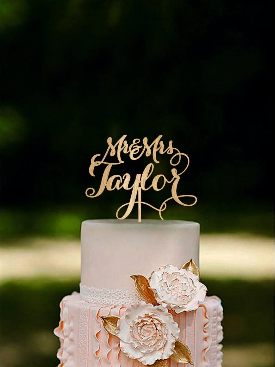 Свадьба - Wedding Cake Topper Last Name Wood Topper Personalized Rustic Cake Topper Gold cake topper Silver cake topper