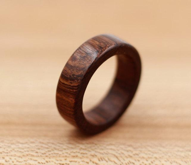 Wedding - Brown Ebony Ring - Guayacan Wood - Custom Wood Ring - Unique Wedding Ring - Wedding Ring - Wooden Ring - Mens Jewelry - 5 Year Anniversary