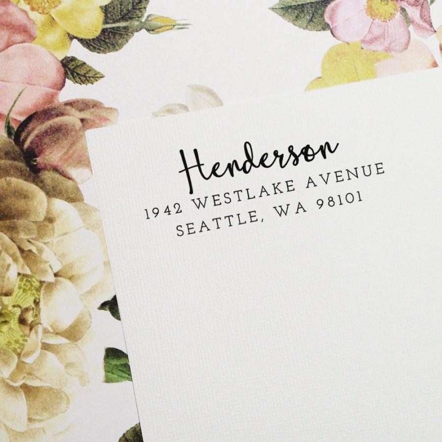 زفاف - Self-Inking Address Stamp, Return Address Stamp, Custom Stamp, Personalized Stamp, Wedding Invitation Stamp, Wood Stamp - Style #55