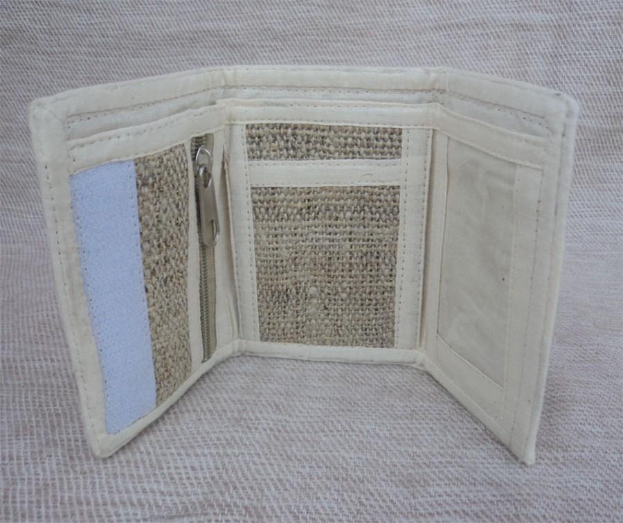 Hochzeit - Hemp Wallet Nepal HCP-6 Three Fold Natural Color Purse