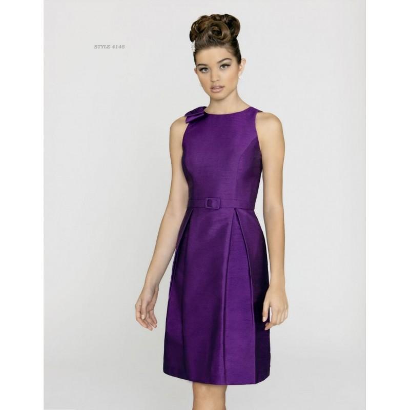 Alexia Designs 4146 Knee Length Shantung Bridesmaid Dress Brand Prom Dresses