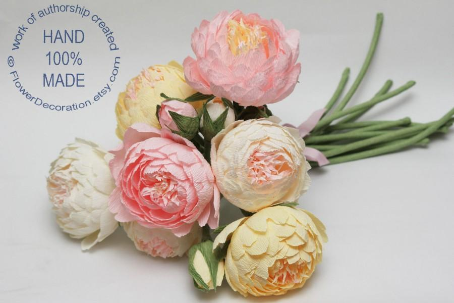 Mariage - Wedding bouquet, bride bouquet, bridal bouquet, bridesmaids bouquet, paper flower bouquet, wedding flowers, wedding peonies, peonies bouquet