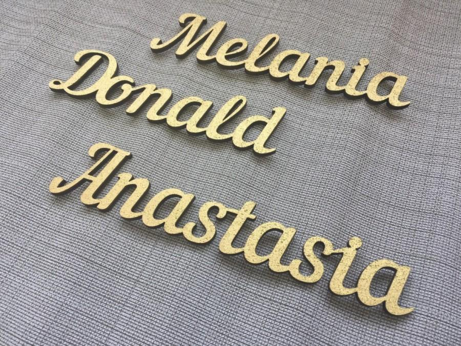 Personalized wedding place cards gold laser cut place nameswooden personalized wedding place cards gold laser cut place nameswooden place cards wooden rustic centerpieces wedding wood place names junglespirit Gallery