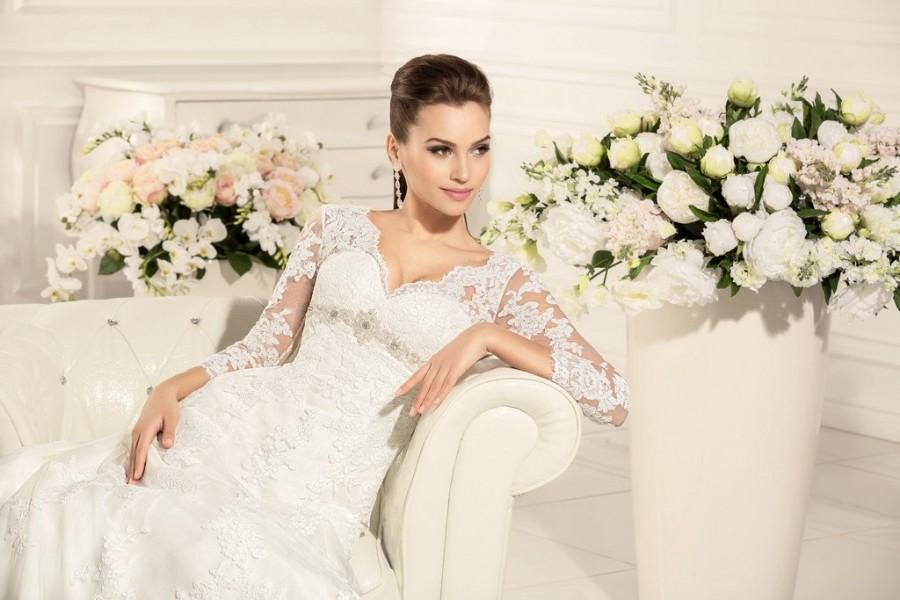 Wedding - Wedding Dress Jaklin, Long Sleeve Wedding Dress, Wedding Dress Lace, A-line Wedding Dress, Elegant Bridal Dress, Sweetheart Wedding Dress