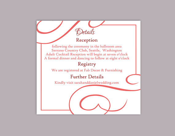 Doc800971 Invitation Information Template Invitation Word – Wedding Information Card Template