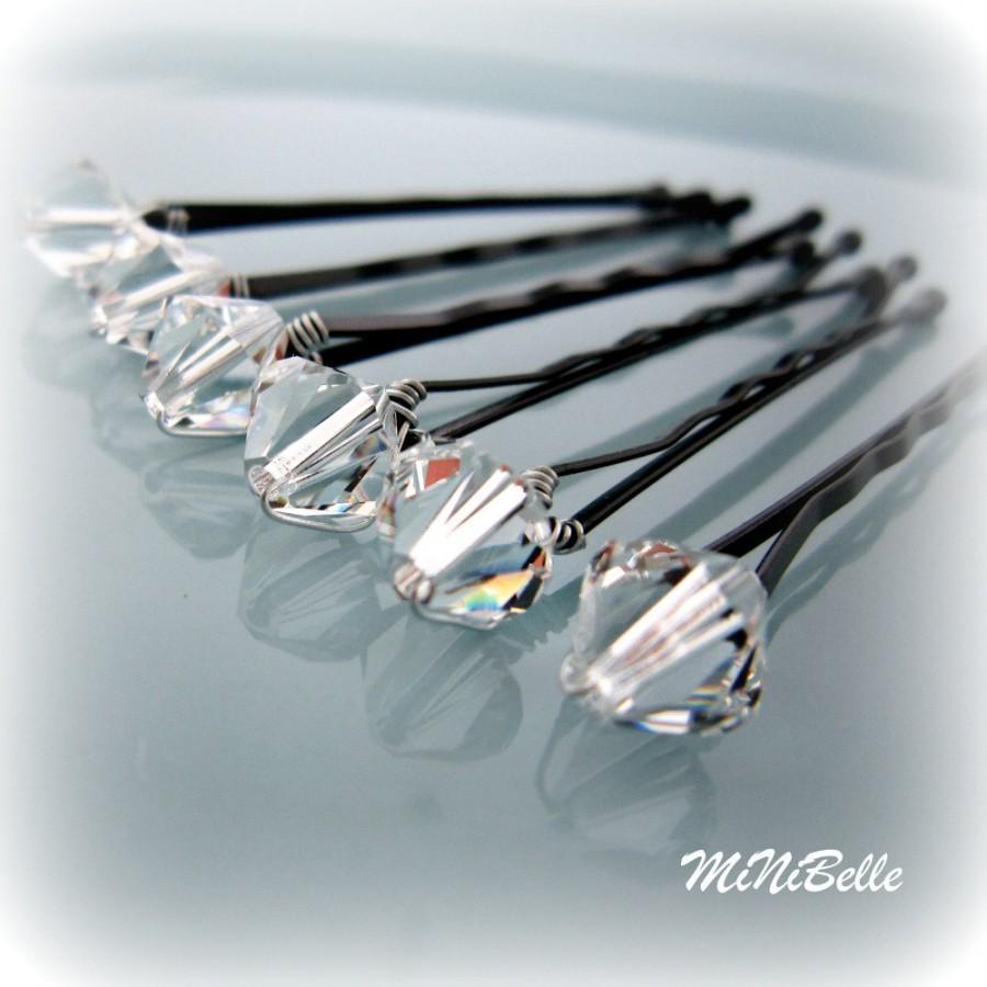 Mariage - Crystal Bridal Hair Pins. Bridal Hair Pins. Swarovski Crystal Hair Pins. Wedding Hair Pins. Prom Hair Pins. Set of 6