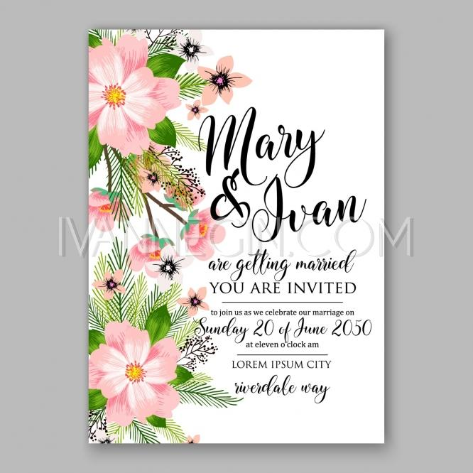 peony wedding invitation template design romantic pink peony bouquet