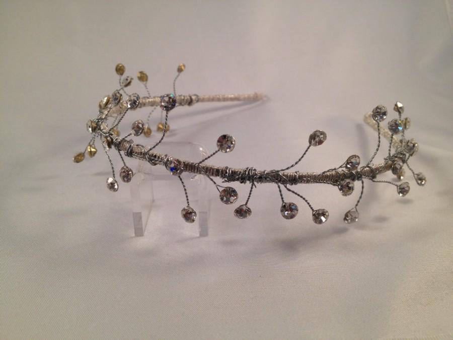 Mariage - Tiara, Headband, Crown, Daenerys Crown , Game of Thrones, Fantasy Crown, Bridal Crown, Wedding Halo - SCYTHIA Headband