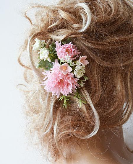 Wedding Flower Hair Combs Wedding Hair Accessories Bridal Hair