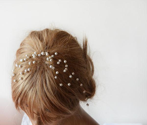 Mariage - Wedding Hair Accessories, Pearl Comb, Pearl  headband, Bridal Hair Accessory
