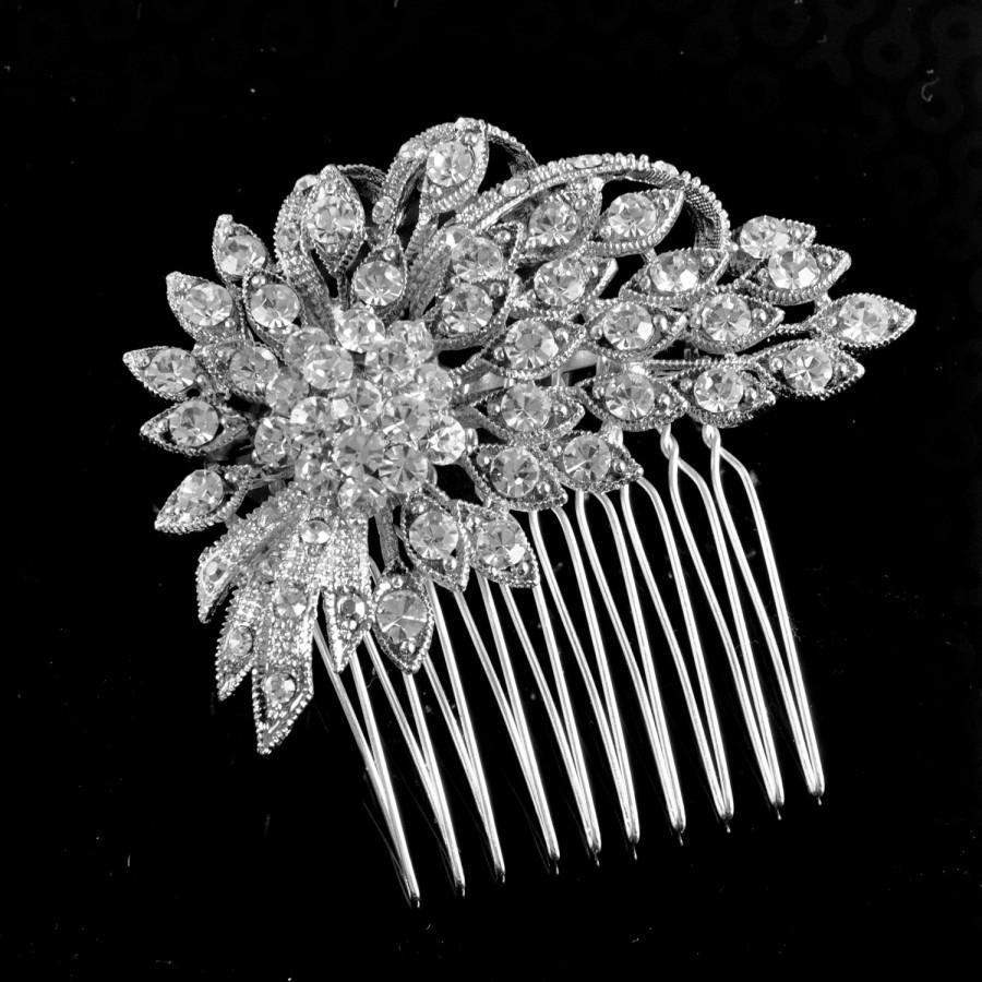 Mariage - Bridal comb,bridal Haircomb,wedding comb,bridal hair accessories, crystal hairpiece,crystal comb set with Swarovski crystals - Danielle