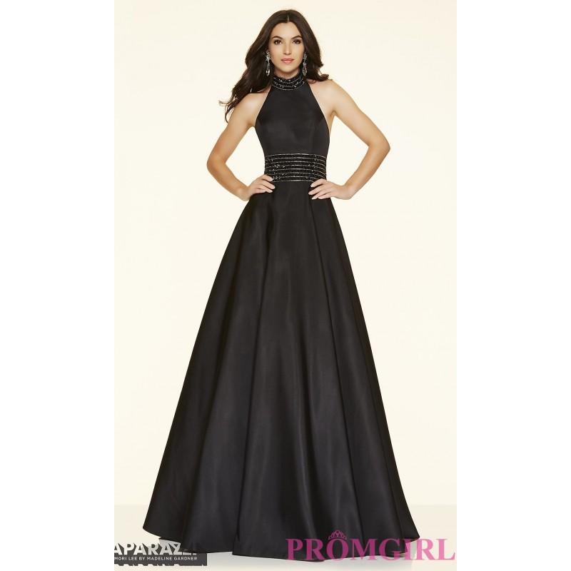 Mariage - Long Mori Lee High Neck Halter Prom Dress - Discount Evening Dresses