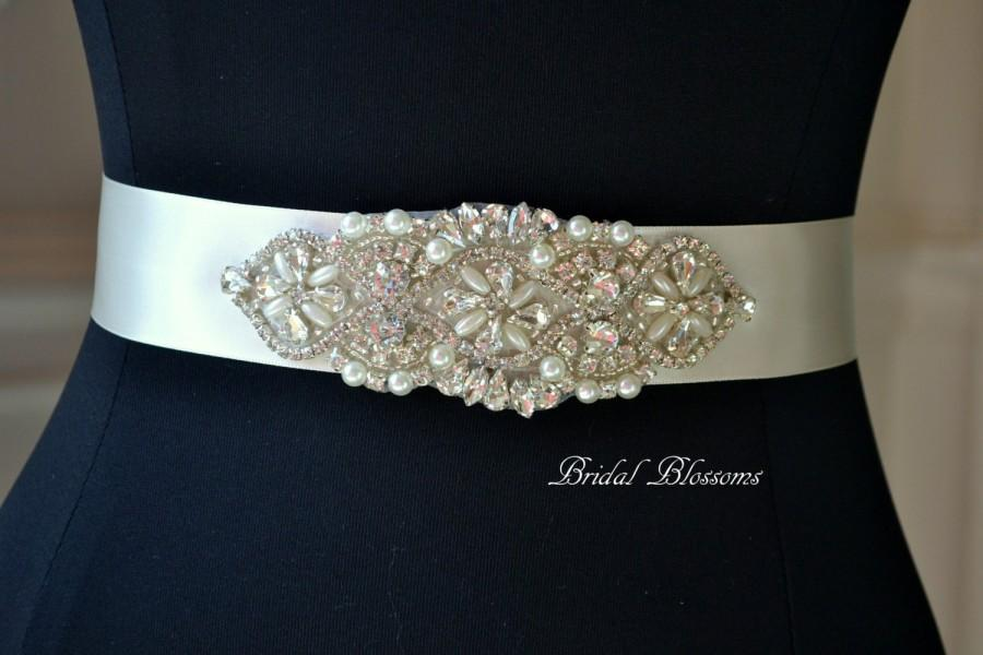 Hochzeit - BEST SELLER - SOPHIA Ivory Bridal Sash