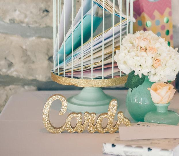 Wedding Card Sign For Table Freestanding Cards Wooden Reception Decorations Item Tca100