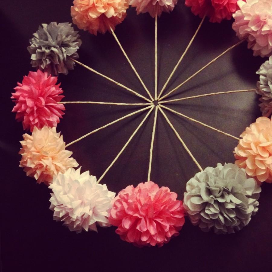 Diy Pom Flowers 10 Count Wedding Decorations Table Decoration