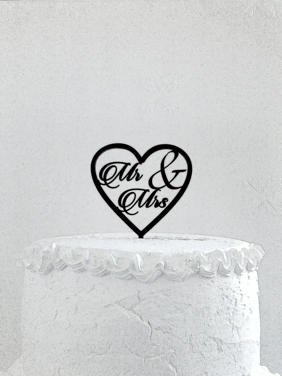 Свадьба - Mr & Mrs Cake Topper - Custom Wedding Cake Topper, Romantic Wedding Cake Decoration, Love Cake Topper, Traditional Wedding Cake Topper