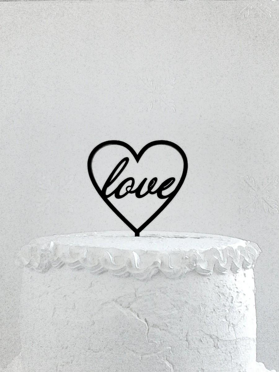 Hochzeit - Love Cake Topper - Custom Wedding Cake Topper, Romantic Wedding Cake Decoration, Love Cake Topper, Traditional Wedding Cake Topper