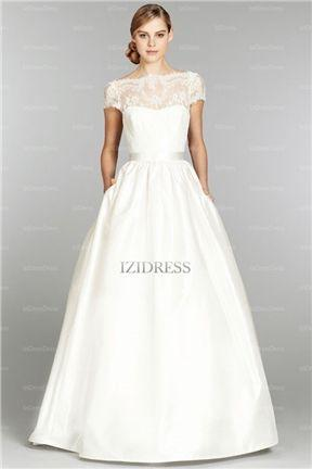 Mariage - A-Line/Princess Off-the-shoulder Court Train Taffeta Wedding Dress