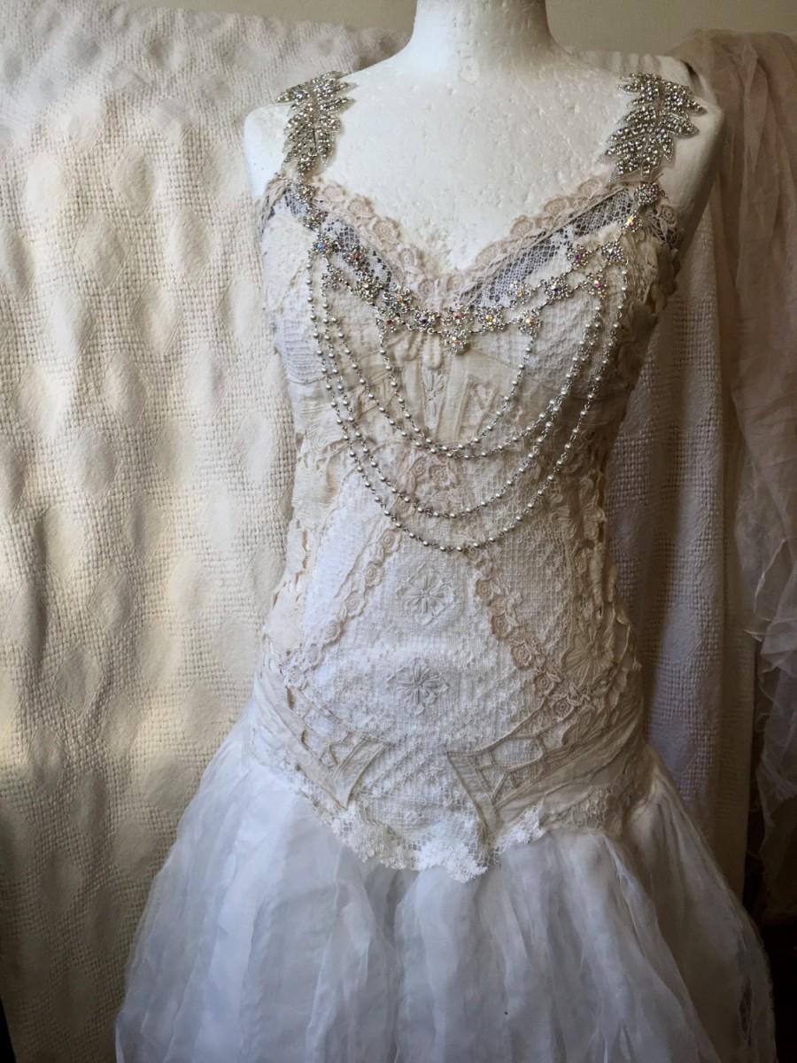 Свадьба - Statement wedding dress,bridal gown extraordinaire,bohemian wedding dress,lace wedding dress, alternative wedding dress,statement wedding