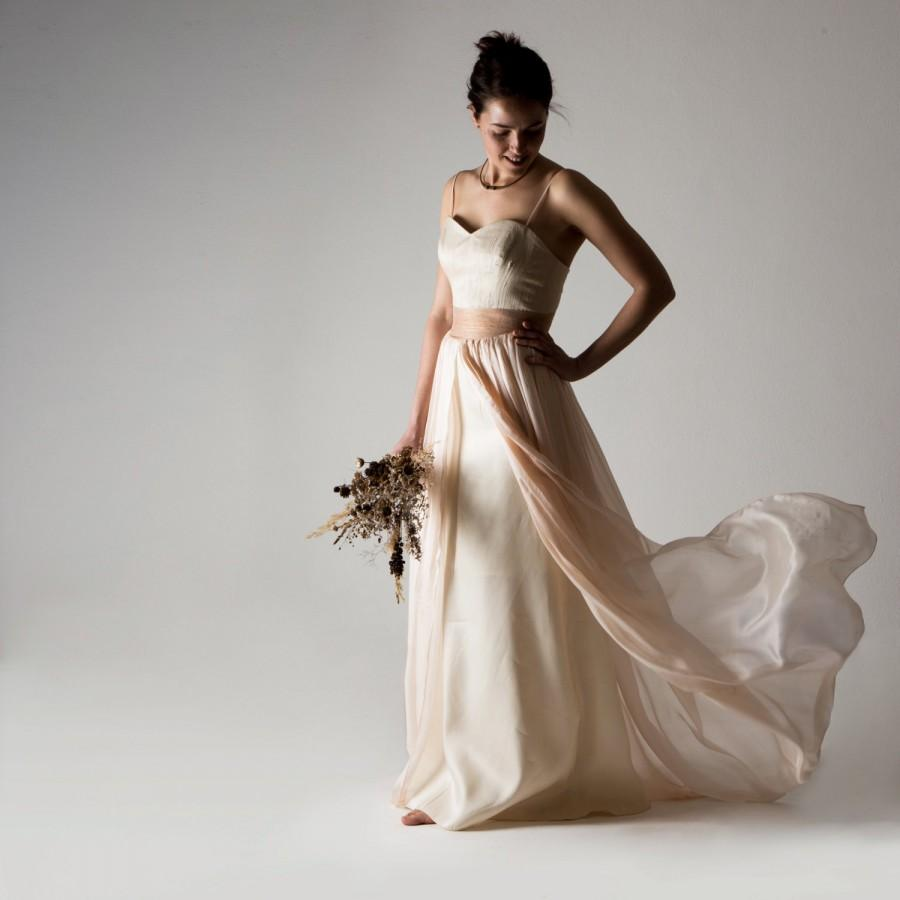 Wedding Dress, Boho Wedding Dress, Bohemian Wedding Dress, Blush ...