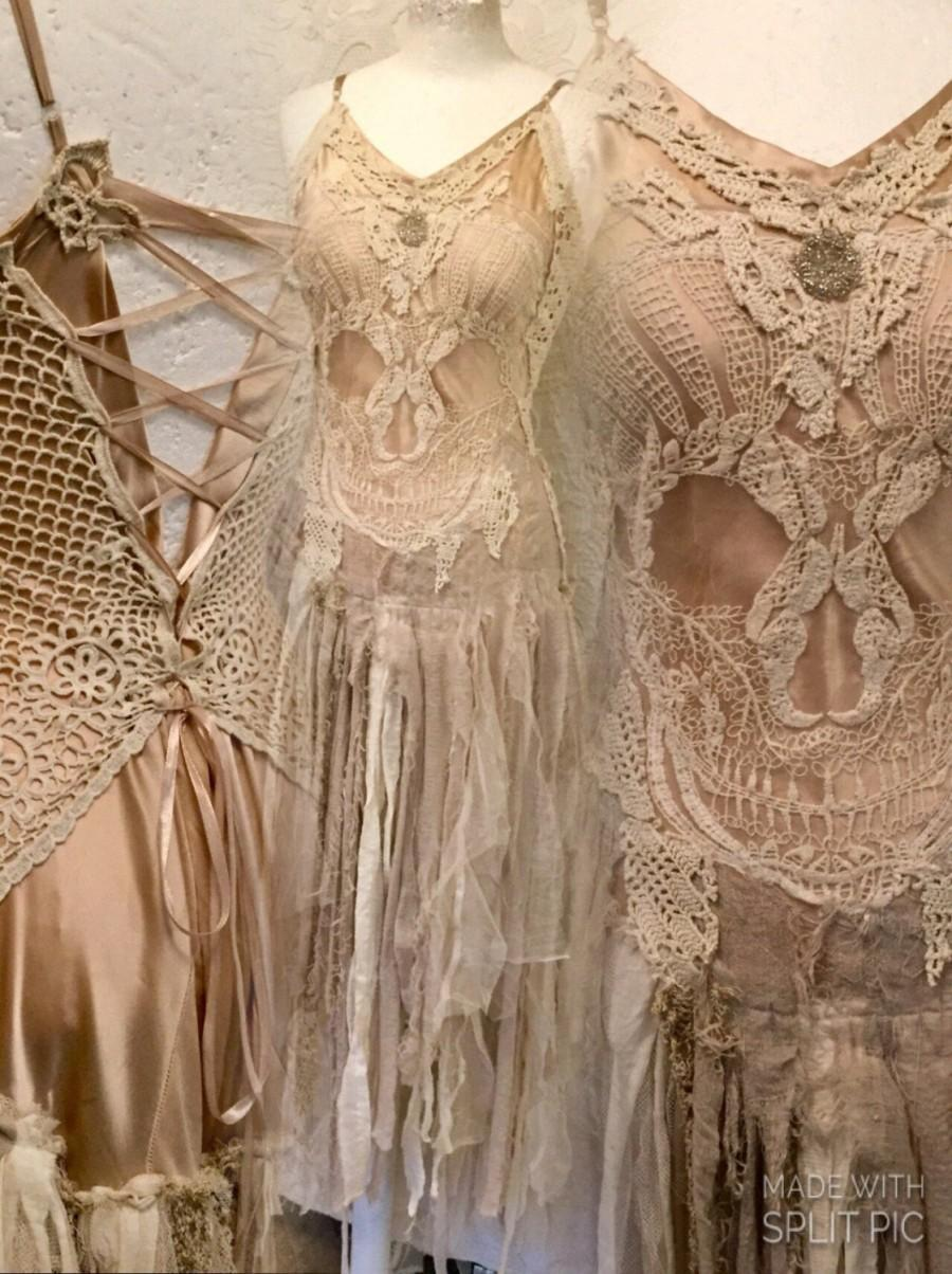 Wedding Dress Pale Pink,wedding Dress, With Scull ,bridal Gown Scull ...