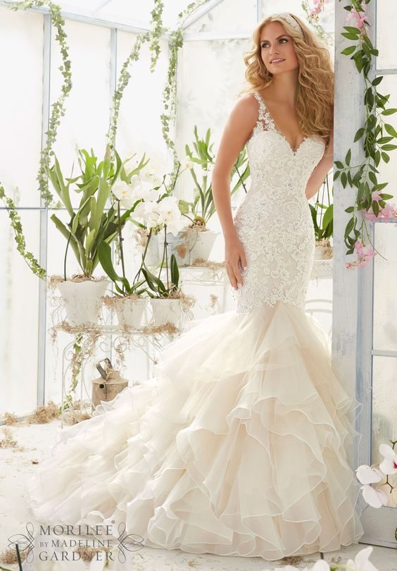 Mariage - 100 Most-Pinnned Mermaid Wedding Dresses