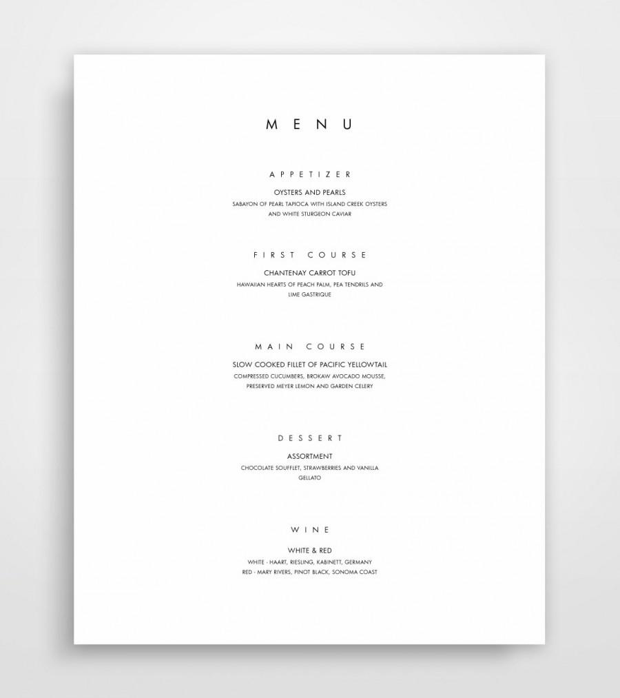 زفاف - Menu Template, Printable Menu, Modern Menu, Minimalist Menu Instant Download, Menu Design, Elegant Menu Templates, Menu Designs