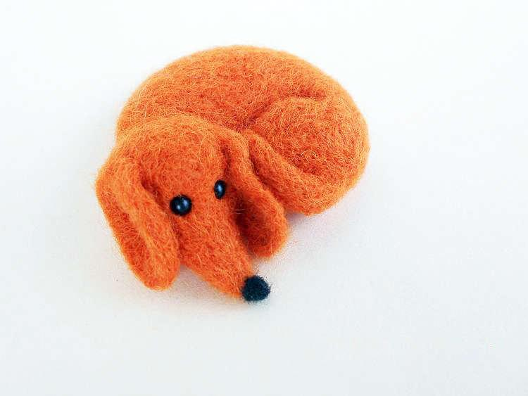 Dachshund Needle Felted Brooch Felt Miniature Dog Art Doll Felted Merino  Wool Ornaments Home Decor Cute Gift For Her Gift For Mom