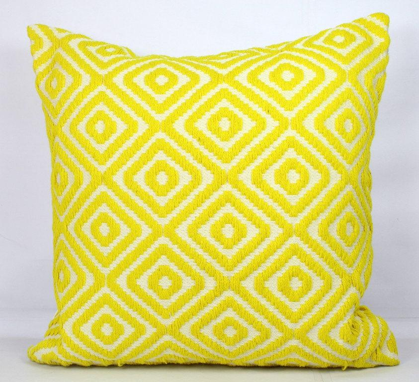 Lemon Pillow Covers 22 X 22 Yellow Throw Pillow Covers 20x20 Inch Yellow Pillow Cover 24x24 ...