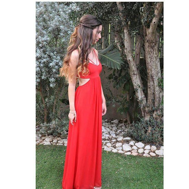 Wedding - Stylish Red V open back  long side slits - red maxi dress - prom maxi dress