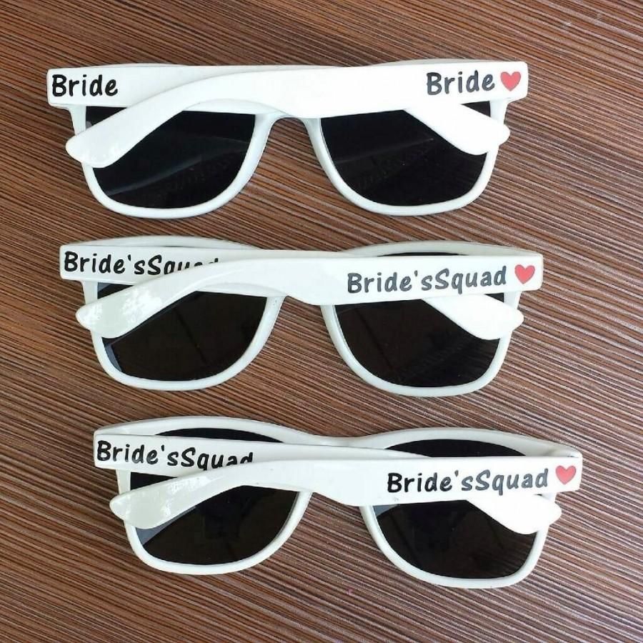 White Sunglasses Personalized Wedding Favor Favors Bachelorette Bridal