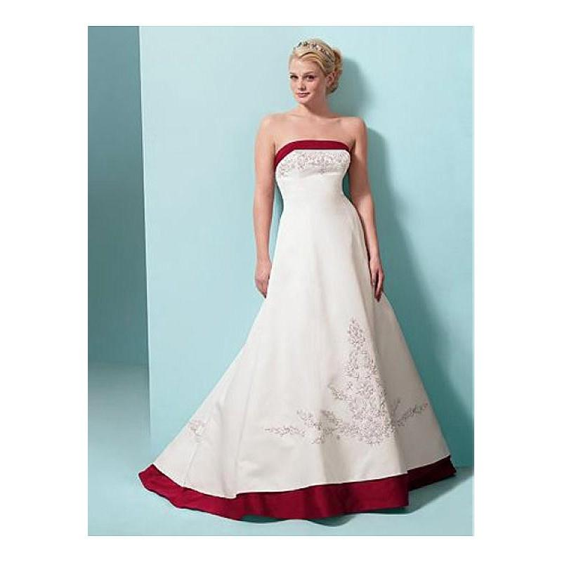 Boda - Exquisite Elegant Divine Satin A-line Wedding Dress In Great Handwork - overpinks.com
