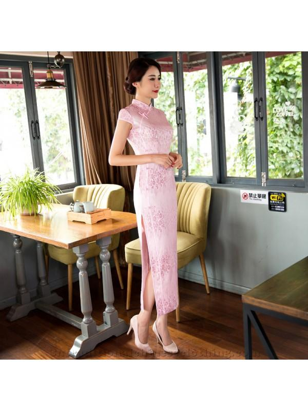 Wedding - 2017 Autumn New Style Real Silk Long Cheongsam/Qipao Lace Modified Fashion Slim Plus Size One-piece Dress Wholesale - Cntraditionalchineseclothing.com