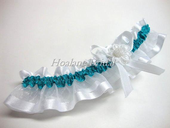 Hochzeit - Garter, organza ribbon garter, Wedding/Prom garter
