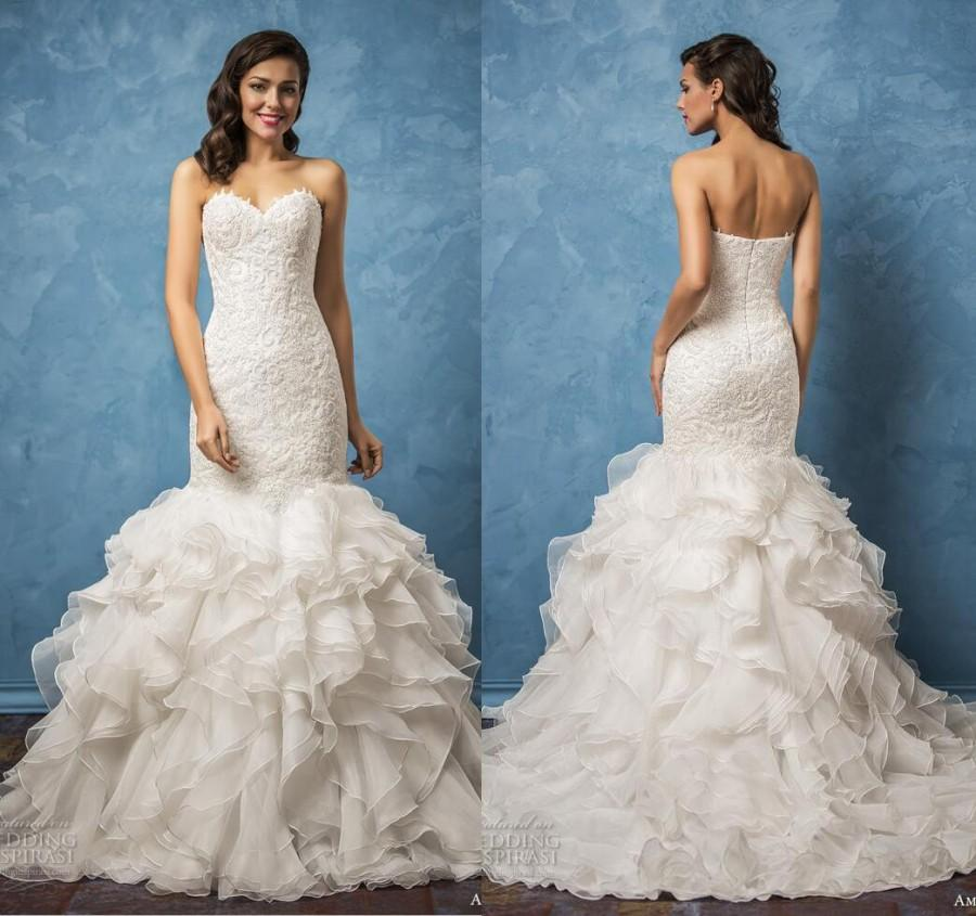 New arrival amelia sposa 2017 sexy sweetheart wedding for Mermaid wedding dress with ruffles