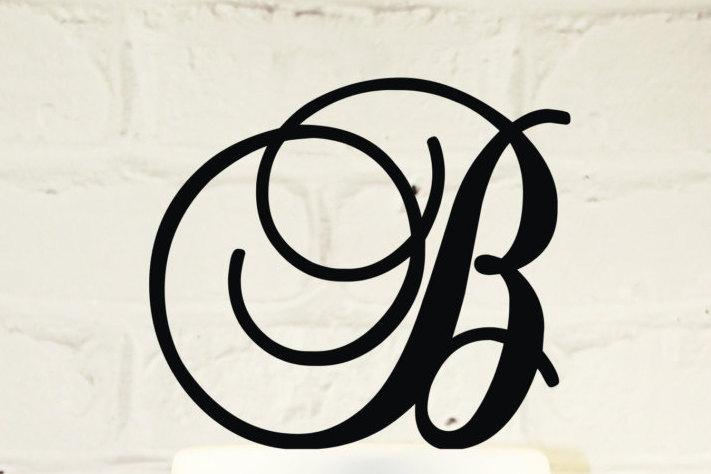 Свадьба - 6 inch Monogram Acrylic Wedding Cake Topper Personalized in Any Letter A B C D E F G H I J K L M N O P Q R S T U V W X Y Z