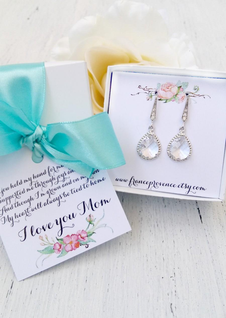 Mariage - Mother Of The Bride Gift, Gift Boxed Jewelry, Mother of The Bride jewelry, Mother of The Bride Earrings, Thank You Gift, Gift boxed jewelry